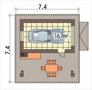 Plan 1 garaj pentru 1 masina