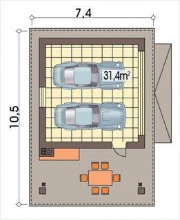 Plan 2 garaj pentru doua masini