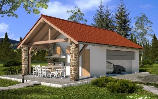Proiect fermecator de garaj multifunctional cu terasa - ( PLAN DETALIAT)