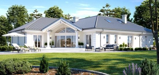 Proiect de vila eleganta cu mezanin cu suprafata de 207 mp - PLAN DETALIAT