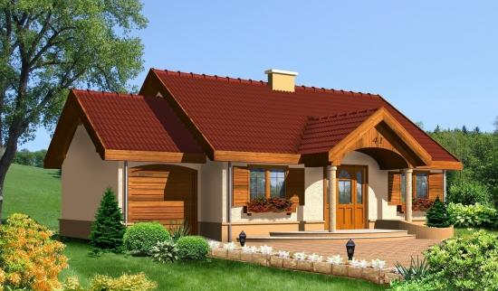 Casa parter cu coloane intrare - proiect II
