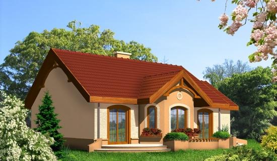 Fatada casa cu bovindou -  proiect II