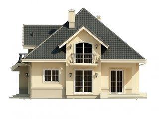 Casa cu ferestre mari elevatie