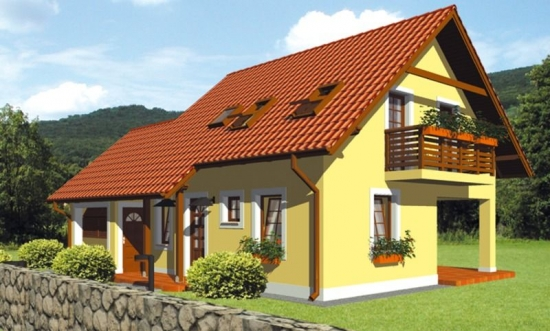 Proiect casa mica cu mansarda for Proiecte case cu garaj si mansarda