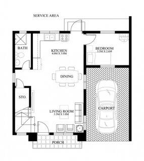 proiect 1 parter casa ingusta cu livig bucatarie dormitor si baie
