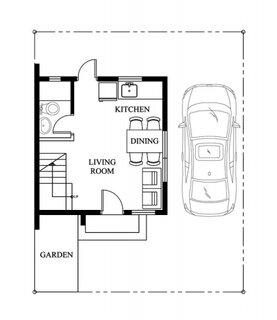 proiect 2 parter cu living bucatarie si baie