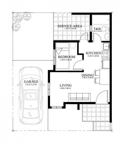 proiect 4 plan parter casa parter suprafata utila 25 mp