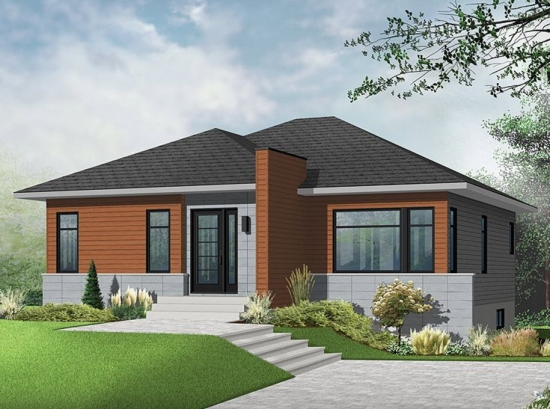 2 Casa simpla cu acoperis in 4 ape