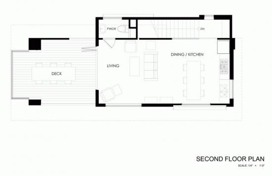 4 Plan casa mica la tara cu etaj