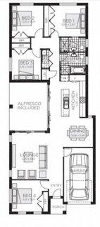6. Plan casa mica cu 3 dormitoare