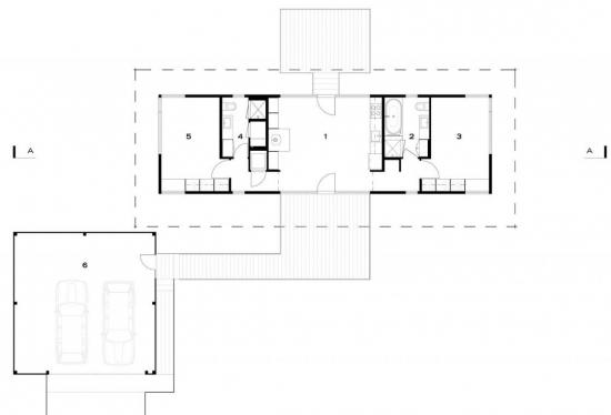 8. Plan proiect casa micuta cu doua dormitoare