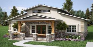 Casa cu pod placata cu piatra