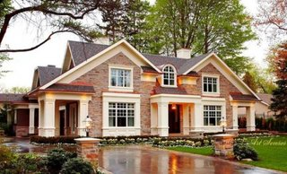 Model de casa placata cu klinker