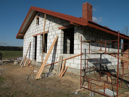 Casa construita dupa proiect stadiu rosu