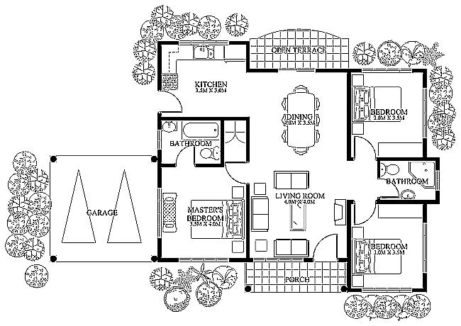 3 Parter cu 3 dormitoare si 2 bai