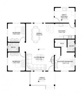 7 Casa fara etaj cu 3 dormitoare plan