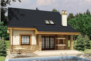 Casa cu terasa acoperita si gratar zidit