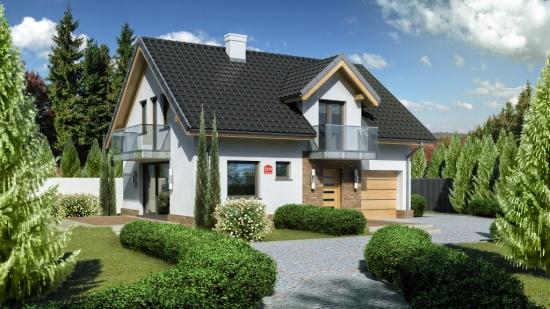 Proiecte de case cu mansarda si suprafata utila de 100 mp