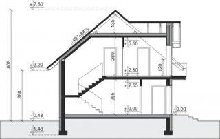 Plan vertical casa cu balcoane din sticla