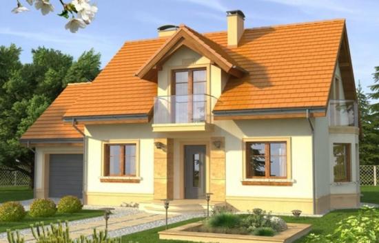 Casa eleganta cu mansarda