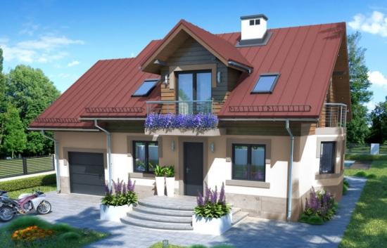 Proiecte de case cu mansarda si suprafata utila de 120 mp - 3 modele practice si functionale