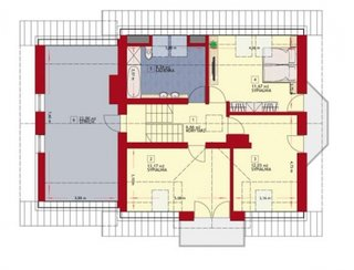 Plan mansarda casa spatioasa cu garaj