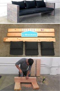 Construire banca din lemn