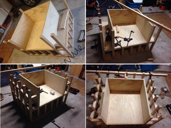 Construire fotoliu cu rafturi pentru carti