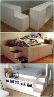 Construire pat inaltat cu dupluri dedesubt