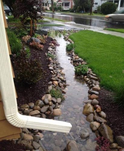 Scurgere apa pluviala din pietre