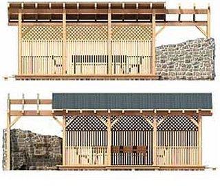 Vederi laterale constructie structura gradina