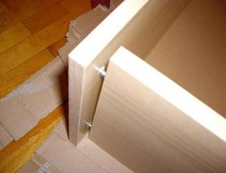 Raft debara mobilier hol capat cu suruburi