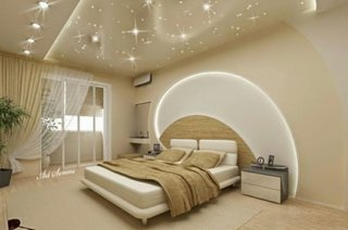 Arcada din rigips cu lumini decor modern dormitor