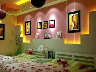 Etajere din rigips pe perete dormitor copii