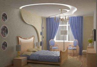Model de perete din rigips pentru dormitor
