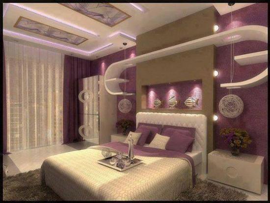 Modele de rafturi gips carton in dormitor