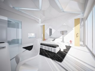 Design tablie pat moderna cu oglinzi
