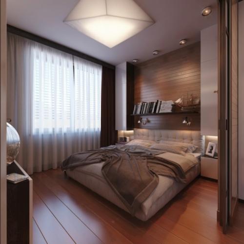 Rama pat din lemn pana in tavan