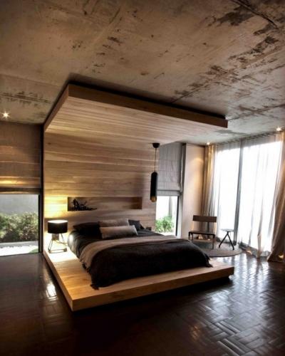 Rama pat moderna pana in tavan