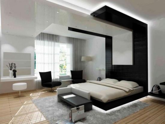 Tablie pat in doua culori pana in tavan