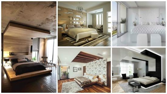 17 idei creative si stilate pentru o tablie de pat pana in tavanul dormitorului