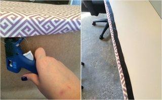 Aplicare banda adeziva la imbinarea dintre material si lemn