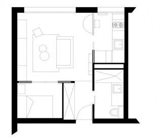 Planul apartamentului dupa renovare