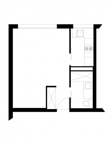 Planul apartamentului inainte de renovare