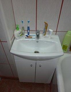 Renovare baie mica chiuveta