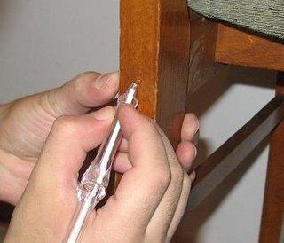 Macare cu pixul al punctelor de imbinare la scaun