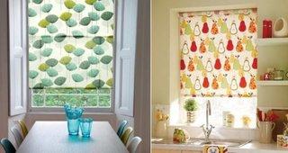 Rolete textile decorative pentru bucatarie
