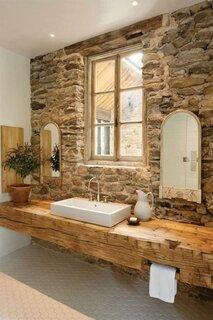 Blat din lemn natura pentru baie