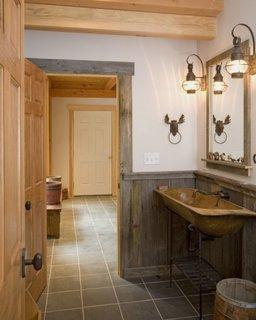 lavoar de baie din lemn masiv lucrat manual