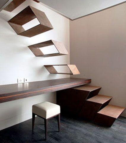 Trepte scara interioara sub forma de cutii